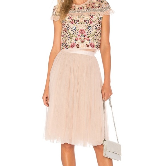 917ff9e1a4 Needle & Thread Skirts | Needle Thread Aline Tulle Midi Skirt | Poshmark